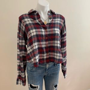 F21 Cropped Flannel